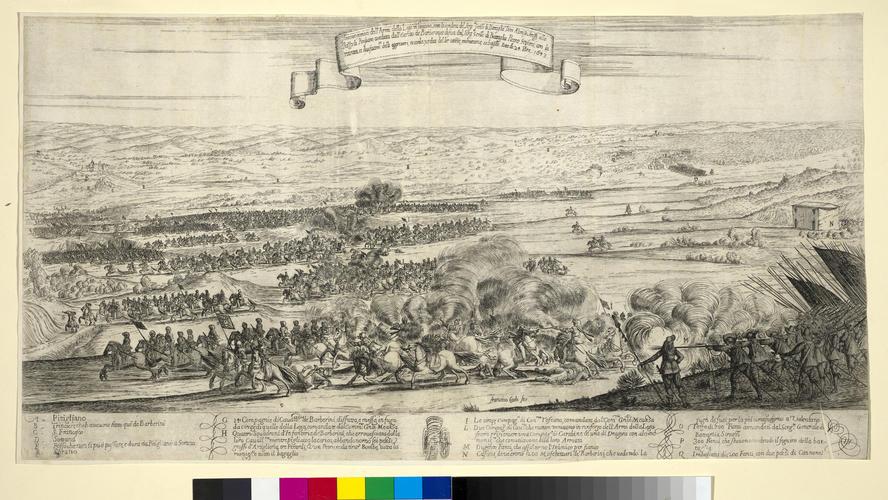 View of the battle of Pitigliano, 1643 (Pitigliano, Tuscany, Italy) 42?38?08?N 11?40?28?E
