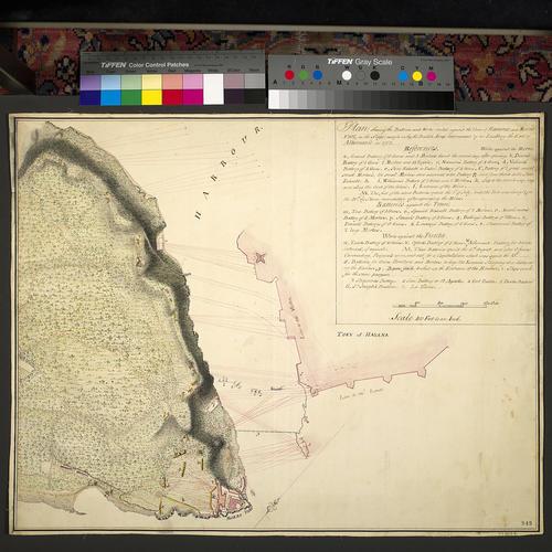 Plan of Havana and Fort Morro, 1762 (Havana, Ciudad de La Habana, Cuba) 23?07'58