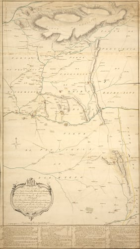 Map of Portugal, 1762