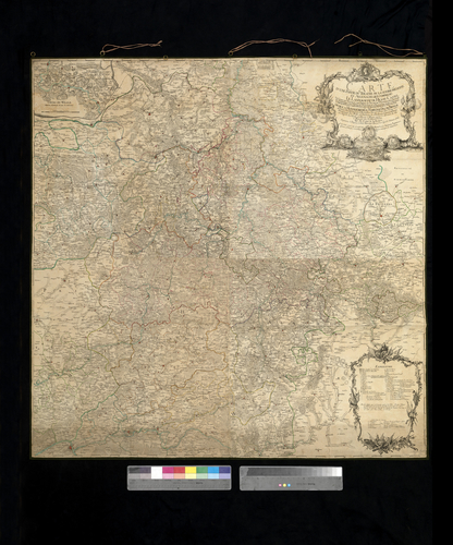 Map of Hesse-Cassel, 1760 (Hesse, Germany)