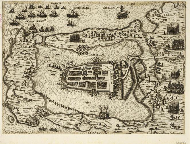 View of the siege of Orbetello, 1646 (Orbetello, Tuscany, Italy) 42?26?30?N 11?13?17?E
