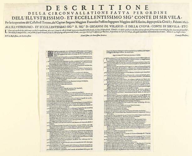Tortona, 1643 (Tortona, Piedmont, Italy) 44?53?52?N 08?51?49?E