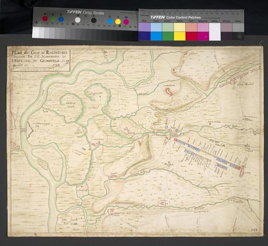 Map of encampment at Rheinzabern, 1710 (Rheinzabern, Rhineland-Palatinate, Germany) 49?07'05