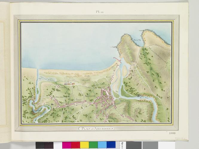Master: Maps of Scotland, 1795 Item: Map of Aberdeen, 1795 (Aberdeen, Aberdeen City, Scotland, UK) 57?08'37