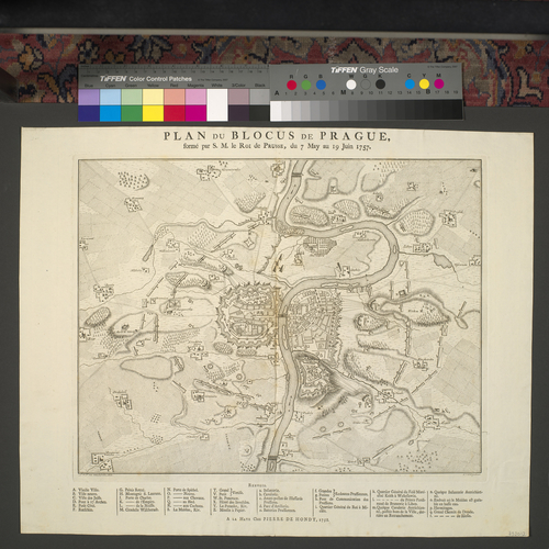 Map of Prague, 1757 (Prague, Hlavni Mesto Praha, Czech Republic) 50?05'16