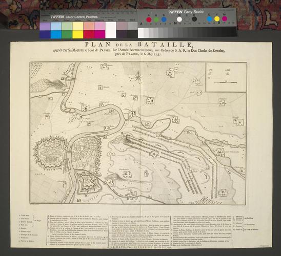 Map of the Battle of Prague, 1757 (Prague, Hlavni Mesto Praha, Czech Republic) 50?05'16