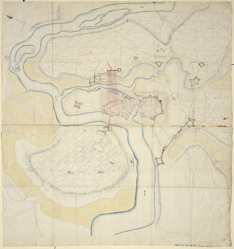 Map of the siege of Limerick, 1691 (Limerick, Munster, Ireland) 52?39?53?N 08?37?23?W