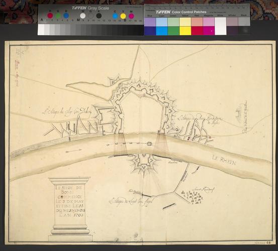 Map of the siege of Bonn, 1703 (Bonn, North Rhine-Westphalia, Germany) 50?44'03