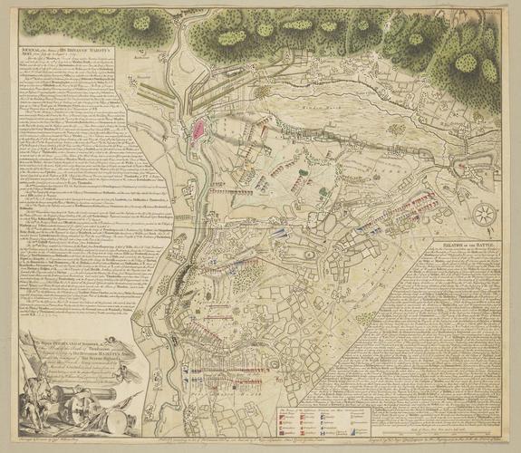 Master: Plan de la Bataille de Thonhausen. Item: Map of the Battle of Minden, 1759 (Minden, North Rhine-Westphalia, Germany) 52?17'00