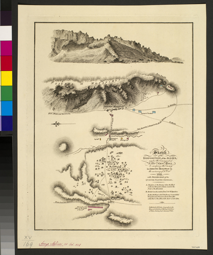 Map of the Battle of Arroyo Molinos, 1811 (Arroyo Molinos, Andalusia, Spain) 37?44'13
