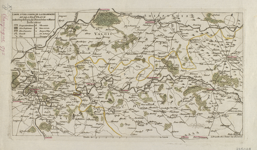 Map of Champagne, 1792 (Administrative region of Champagne-Ardenne, France)