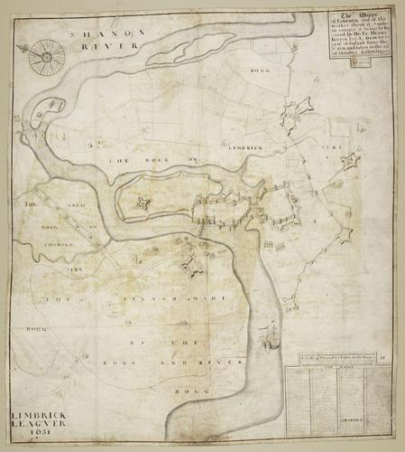 Master: Siege of Limerick, 1651 (Limerick, Munster, Ireland) 52?39?53?N 08?37?23?W Item: Map of the siege of Limerick, 1651 (Limerick, Munster, Ireland) 52?39?53?N 08?37?23?W