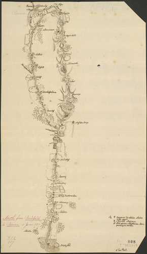 Map of Bielefeld and Rehme, 1757 (Bielefeld, North Rhine-Westphalia, Germany) 52?02'00