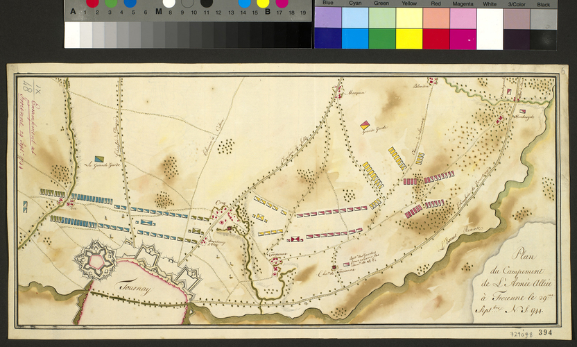 Map of encampment at Froyennes, 1744 (Froyennes, Walloon Region, Belgium) 50?37'18