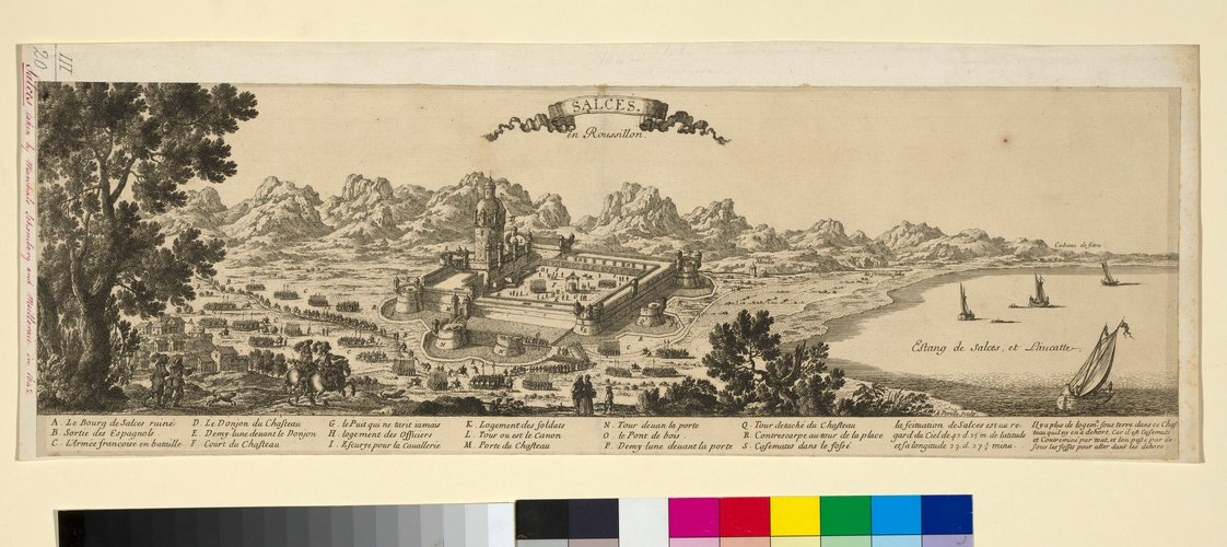 View of Salses-le-Chateau, 1642 (Salses-le-Chateau [Salces], Languedoc-Roussillon, France) 42?50?00?N 02?55?00?E