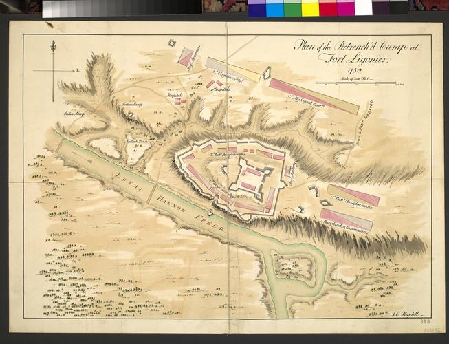 Plan of Fort Ligonier, 1758 (Ligonier, Pennsylvania, USA) 40?14'35