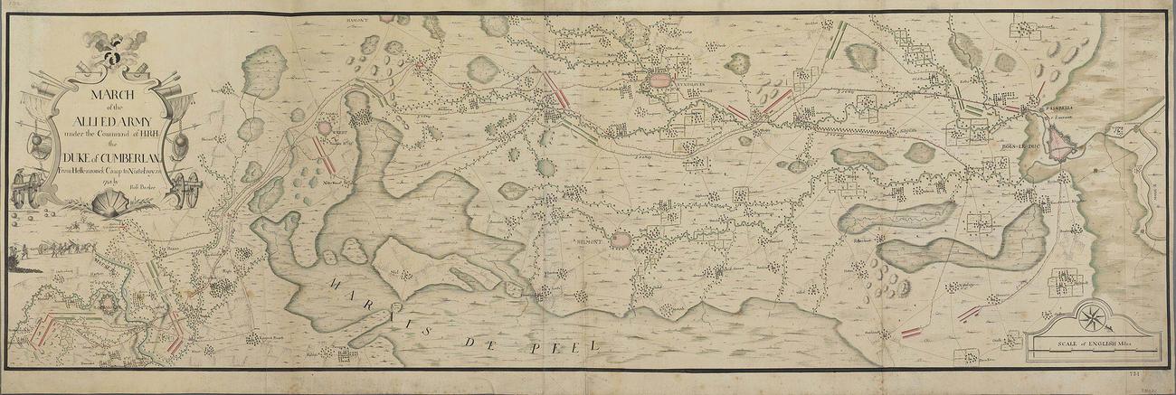 Map of Hellenrouck and Nistelrode, 1748 (Hillenraed Castle, Limburg, Netherlands) 51?13'18