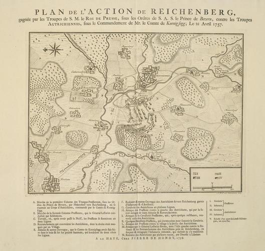 Master: [Battle of Reichenberg 21 April 1757] Item: Plan of the Battle of Reichenberg, 1757 (Liberec, Liberecky Kraj, Czech Republic) 50?46'01