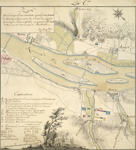 Map of encampment at Mosbach, 1745 (Mosbach, Hesse, Germany) 50?03'01