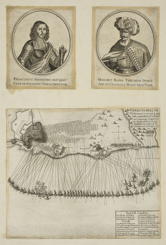 A map of Candia, 1669 (Heraklion [Candia, Irakleion], Crete, Greece) 35?19?40?N 25?08?36?E