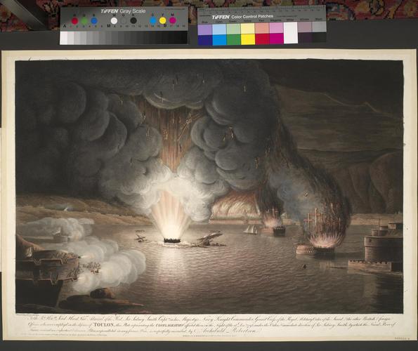 Master: CONFLAGRATION AT TOULON Item: View of Toulon, 1793 (Toulon, Provence-Alpes-Cote d?Azur) 43?07'00