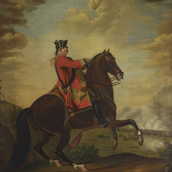 Morier was a Swiss military and sporting painter who started working for William Augustus, Duke of Cumberland (1721-65) in 1747, when he painted a series of pictures of troops under his command. From 1752 until 1764 he was employed as 'limner' (painte