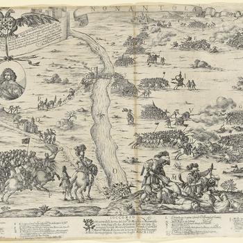 <p>View of Nonantola, 1643 (Nonantola, Emilia-Romagna, Italy) 44°40ʹ40ʺN 11°02ʹ16ʺE</p>
