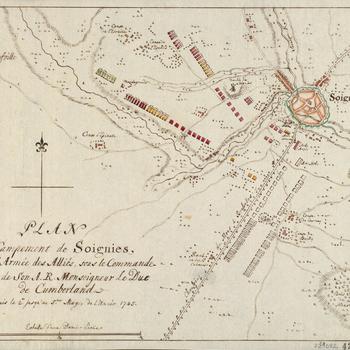 Map of encampment at Soignies, 1745 (Soignies, Walloon Region, Belgium) 50?34'44