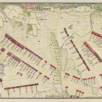 Plan of encampment at Zonhoven, 1746 (Zonhoven, Flanders, Belgium) 50?59'26