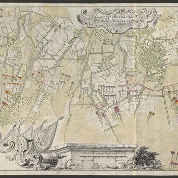 Map of encampment at Schilde, 1747 (Schilde, Flanders, Belgium) 51?14'27