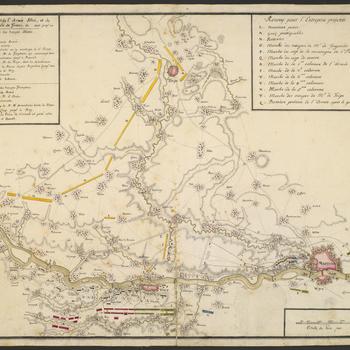 Map of encampment at Richelle and Liege, 1747 (Richelle, Walloon Region, Belgium) 50?42'50