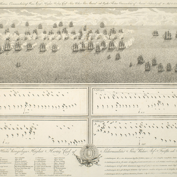 A view and plans of the Battle of Öland, fought on 26 July 1789 between the Swedish and Russian fleets with indecisive results. Russo-Swedish War (1788-90). The Battle of Öland was indecisive; the Swedes disengaged after meeting strong resistanc