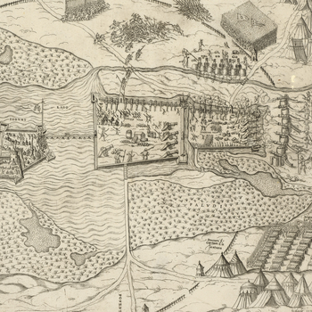 View of the siege of Sziget, 1566 (Szigetvar, Baranya, Hungary) 46?02?55?N 17?48?19?E