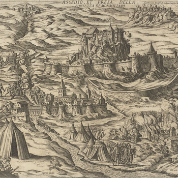 View of the siege of Montmelian, 1600 (Montmelian, Rhone-Alps, France)