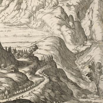 View of Fort de Gelasse, 1629 (Gravere, Piedmont, Italy) 45°07ʹ31ʺN 07°01ʹ03ʺE