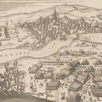 View of the Battle of Rheinfelden, 1638 (Rheinfelden, Baden-Wurttemberg, Germany) 47?33?36?N 07?47?13?E