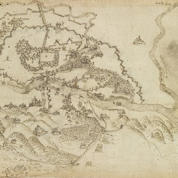 Map of Turin, 1640 (Turin, Piedmont, Italy) 45?04'13