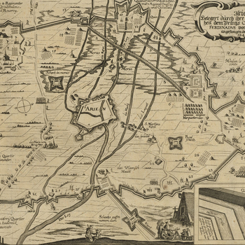 Map of Aire, 1641 (Aire-sur-la-Lys, Nord-Pas-de-Calais, France) 50?38'19