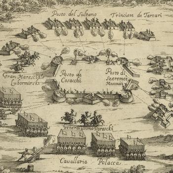 View of the Battle of Chudnov, 1660 (Chudnov [Chudniv, Cudnow], Zhytomyr, Ukraine) 50?03?07?N 28?07?02?E
