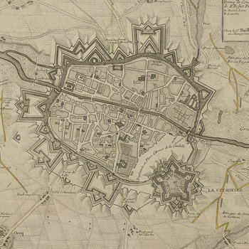 A map of Tournai, 1667 (Tournai, Walloon Region, Belgium) 50?36'25