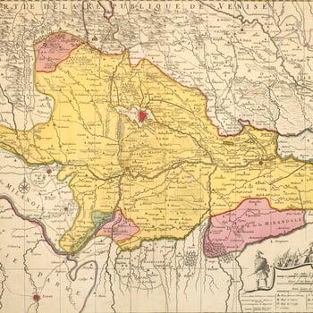 Map of Mantua, 1701 (Mantova, Lombardy, Italy) 45?09'37