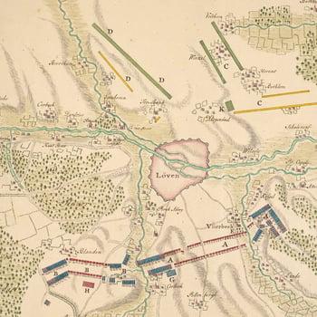 Map of Louvain, Vlierbeek, Bierbeek, Terbank and Bethlem, 1705 (Leuven, Flanders, Belgium) 50?52'46