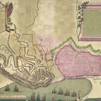 Map of the siege of Barcelona, 1706 (Barcelona, Catalonia, Spain) 41?23'19