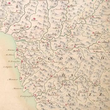 Map of the Battle of Toulon, 1707 (Toulon, Provence-Alpes-Cote d?Azur, France) 43?07'00