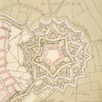 Plan of the siege of Lille, 1708 (Lille, Nord-Pas-de-Calais, France) 50?37'58