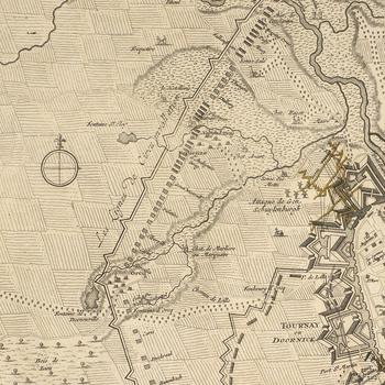 Map of the siege of Tournai, 1709 (Tournai, Walloon Region, Belgium) 50?36'25