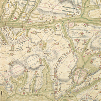 Map of Bouchain, Douai, Marciennes, St Amand and Valenciennes, 1711 (Bouchain, Nord-Pas-de-Calais, France) 50?17'06