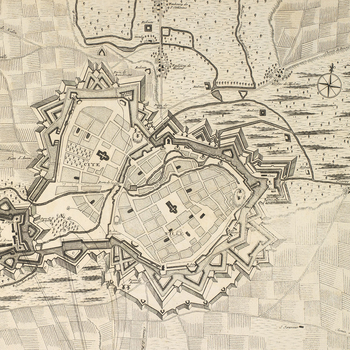 Map of Arras, 1712 (Arras, Nord-Pas-de-Calais, France) 50?17'34