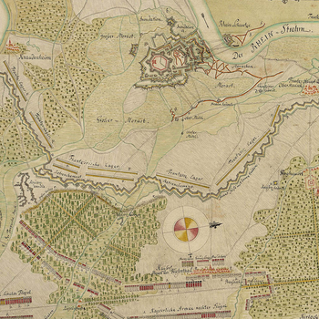 Map of the siege of Philippsburg, 1734 (Philippsburg, Baden-Wurttemberg, Germany) 49?13?54?N 08?27?39?E