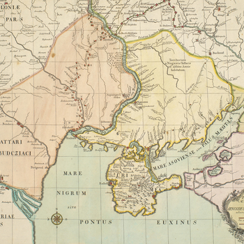 Master: Little Tartary and Crimea, 1736-7Item: Map of Little Tartary and Crimea, 1736-7